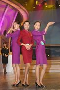 T80-005  ]  Flight Attendants Cabin Attendants Stewardesses Hostesses Cabin Crew , China Pre-paid Card, Postal Statioery - Other