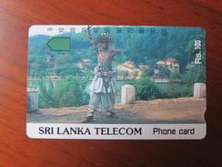 Anritsu Phonecard,SRL-T-02 Dancer In Traditional Costume,mint - Sri Lanka (Ceylon)