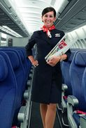 T80-010  ]  Flight Attendants Cabin Attendants Stewardesses Hostesses Cabin Crew , China Pre-paid Card, Postal Statioery - Other