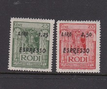 Italy-Aegean Islands 1944 Special Delivery Stamp E5-6   Mint Never Hinged - Aegean