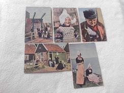 LOT DE 5 CARTES SCENES DE VIE A VOLENDAM...COSTUMES TRADITIONNELLES - Cartoline