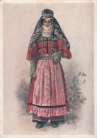 Caucasus Caucasian Ethnic Fashion Artist Image Woman, C1930s Vintage Postcard - Fashion