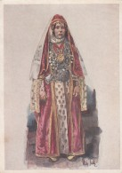Caucasus Caucasian Ethnic Fashion Artist Image Woman In Dress, C1930s Vintage Postcard - Fashion