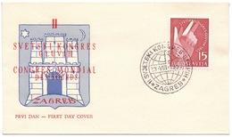 YUGOSLAVIA - JUGOSLAVIA - CONGRESS OF THE DEAF  - ZAGREB -1955 - Handicap