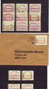 0645: ATM- Sammlung Mit Bedarfsstempeln (ANK 172.- Euro) - Autriche