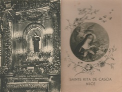 17 / 7 / 342  - PETIT  LIVRE (15,50 X 10 CM ) -  SAINTE  RITA  DE  CASCIA  NICE  ( 06 ) Manuel De Prières & Des 15 Jeudi - Books, Magazines, Comics