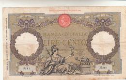 Lire 100 Aquila Romana Fascio. Vittorio Emanuele III  01-06 1938  Firma Azzolini Urbini. Qualche Macchia. - [ 1] …-1946 : Kingdom