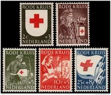 ~~~ Netherlands 1953 - Red Cross / Rode Kruis - NVPH 607/611  ** MNH ~~~ - Period 1949-1980 (Juliana)
