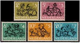 ~~~ Netherlands 1952 - Child Wellfare / Kinderzegels - NVPH 596/600 ** MNH ~~~ - Unused Stamps