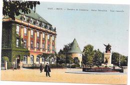METZ - 57 - CPA COLORISEE - Chambre De Commerce - Statue Déroulède - Tour Camoufle - LYO67 - - Metz