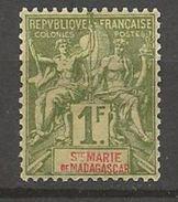 ST-MARIE N° 13 NEUF* CHARNIERE TB / MH - Madagaskar - Sainte-Marie (1894-1898)