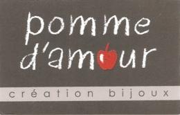 Carte De Visite - Pomme D'amour : Création Bijoux - Cabanes De La Baudissière - Dolus D'Oleron - Visitenkarten