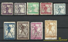 JUGOSLAWIA Slowenien 1919 Michel 99 - 106 O Incl Abart VARIETY ! - 1919-1929 Kingdom Of Serbs, Croats And Slovenes