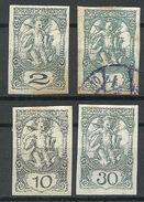 JUGOSLAWIA 1919 Michel 113 - 114 & 116 - 117 */o - 1919-1929 Koninkrijk Der Serviërs, Kroaten En Slovenen