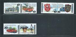Tonga 1997 Surcharge On Police & Fire Service Set Of 3 Pairs MNH Specimen Overprint - Tonga (1970-...)