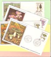 1er Jour 1987. 05 Septembre. 4 Enveloppes Champignons. Cote 2013... 10.00 €. Ttb - FDC