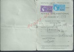 ANCIEN PERMIS INTERNATIONAL DE CONDUIRE PARIS 1957 : - Cartes