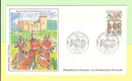 1er Jour 1987. 05 Septembre.guillaume Le Conquerrant. Cote 2013... 2.20 €. Ttb - FDC