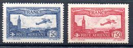 FRANCE - YT N° 5 - 6 Neufs * - MH - Cote: 52,00 € (DF) - 1927-1959 Nuovi