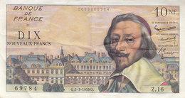 Billet 10 F Richelieu Du 5-3-1959 FAY 57.1 Alph. Z.16 1ère Date D'émission TTB+ - 10 NF 1959-1963 ''Richelieu''