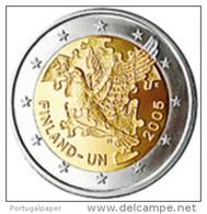 Finlandia  2 Euro Cc  - Unc ( 60th Anniversary Of The United Nations )  2005  -  UNC - Finland