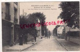 93 - AULNAY SOUS BOIS- AVENUE DU 14 JUILLET - AU FOND MAISON DE CONVALESCENCE BIGOTTINI - EDITEUR GALLAIS LE RAINCY - Aulnay Sous Bois