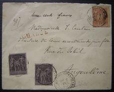 1890 Blois, Denis Papin Loir Et Cher Lettre Chargée Bel Affranchissement - Marcophilie (Lettres)