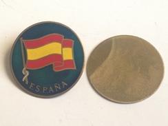 Chapita Bandera De España. Años ´70. - Insignias