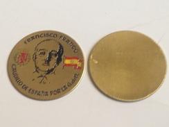 Chapita Francisco Franco. Caudillo De España. Años ´70. - Insignias
