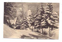 I 39031 BRUNECK, Schloss Bruneck Im Schnee - Autres Villes