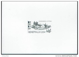 Schaken Schach Chess Ajedrez échecs - Souvenir - Zwartdruk MyStamp - Benefralux 2004 - Echecs