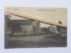 """CHAMPS """" Rue Principale """" Panorama, Animée ( Boudoux Dépositaire ) 1909 . - Frankrijk"""