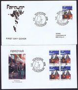Faroe Islands 1978 Scouting; The 50th Anniversary Of The Y.W.C.A. Girl Scouts, Single And Block Of 4 On FDC. - Scouting