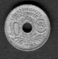 MONNAIE TYPE  LINDOUER  :  10  CENTIMES  DE  1945 , A  SAISIR . - Frankreich