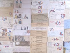 France Military Postal History Colln(280+).1900s-1991 Daguet. Carte En Franchis, FM, Ravitaillement,Vietnam++ - Verzamelingen