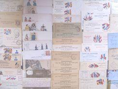 France Military Postal History Colln(280+).1900s-1991 Daguet. Carte En Franchis, FM, Ravitaillement,Vietnam++ - Francia