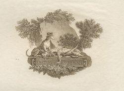 """GRAVURE SÉPIA DU18è ATTRIBUÉE AU GRAVEUR DE LONGUEIL """"UN LEVRIER ET SON TABLEAU DE CHASSE"""" - Prints & Engravings"""