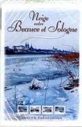 Collector Neige Entre Beauce Et Sologne River Loire Snow Winter Bridge 10 Timbres Lettre Verte - Vendu à Prix Coutant - Geografía