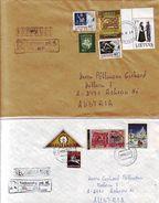 0625w: 2 Belege Litauen Lt. Scan - Lithuania