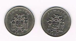 ) JAMAICA  2 X 10  CENTS  1977/1981 - Jamaique