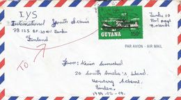 Guyana 1987 Linden River Steamer Lukanani Cover - Guyana (1966-...)