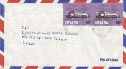 Guyana 1987 Berbice River Steamer Makouria Cover - Guyana (1966-...)