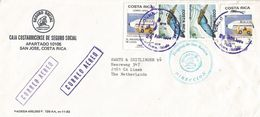 Costa Rica 1988 San Ramon Morpho Peleidis Butterfly Lacsa Airline Hospital Cover - Costa Rica