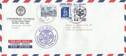 Costa Rica 1991 Heredia Italia Football World Cup Christmas Hospital BioDoc University Cover - Costa Rica