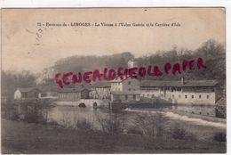 87 - LA VIENNE A L' USINE GUERIN ET LA CARRIERE D' ISLE - ENVIRONS LIMOGES - EDITEUR NOUVELLES GALERIES N° 71-  1915 - Frankrijk