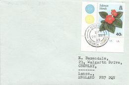 Solomon Islands 1989 Honiara Flame Violet Episcia Cover - Islas Salomón (1978-...)