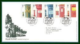 GB FDC 2002 Yv N° 2373 > 2377 Pillar To Post Boîtes Aux Lettres - FDC