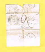 LETTRE 28 EURE ET LOIR. BROU-CHATEADUN.  4/5 JANVIER 1837. - 1801-1848: Précurseurs XIX