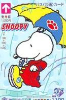 Carte Prépayée  Japon * CHIEN * SNOOPY * (546) BD COMICS * DOG Japan PREPAID CARD * HOND * HUND - Stripverhalen