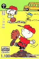 Carte Prépayée  Japon * CHIEN * SNOOPY * (553) BD COMICS * DOG Japan PREPAID CARD * HOND * HUND - Stripverhalen
